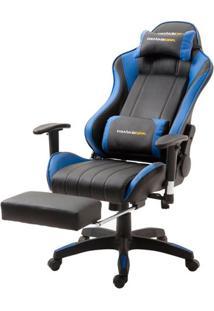 Cadeira Office Xsx Em Courino Preto E Azul - 53538 Sun House