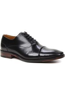 Sapato Social Couro Shoestock Box Cadarço Masculino - Masculino-Preto