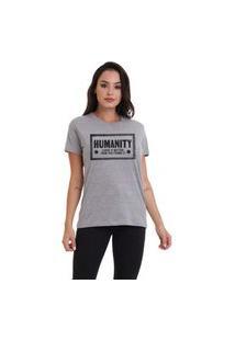 Camiseta Jay Jay Basica Humanity Cinza Mescla Dtg