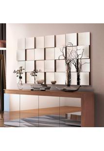 Painel Espelhado Decorativo 136,5Cmx78Cm Liverpool Siena Móveis Preto