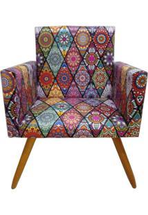 Poltrona Decorativa Nina Suede Mosaico Preto - Ds Móveis - Kanui