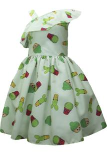Vestido Katitus Juvenil Cacto Verde