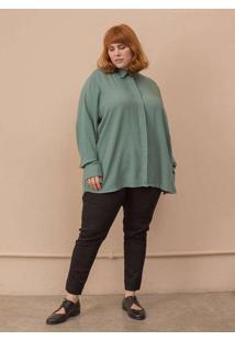 Camisa Milena Plus Size Verde-54/56 Verde