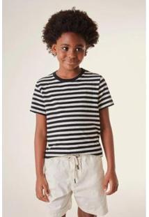 Camiseta Infantil Listra Basica Reserva Mini Masculina - Masculino-Preto