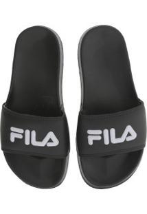 Chinelo Fila Drifter Basic - Slide - Feminino - Preto/Branco