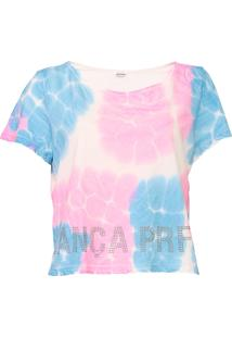 Camiseta Lança Perfume Tie Dye Rosa