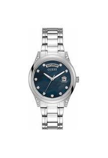 Relógio Analógico Feminino Prata Guess - Gw0047L1 Prata