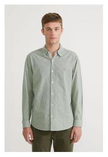Camisa Ml Oxford Xadrez Napoleao