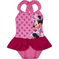 ca047048e Maiô Infantil - Disney - Minnie Mouse - Rosa - Tip Top - T4