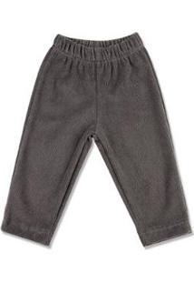 Calça Bebê Plush Cotelê Sem Pezinho Ano Zero - Masculino-Cinza
