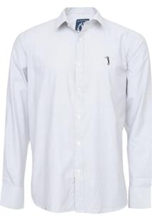 Camisa Aleatory Slim Padronagem Off-White