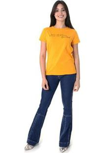 Camiseta Music Not Gunsa Opera Rock Feminina - Feminino-Amarelo