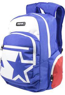 Mochila Starter- Azul & Branca- 45X27X21Cm- Mc Qmc Queen
