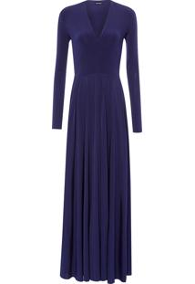 Vestido Longo Fluity - Azul