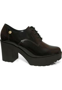 Sapato Oxford Feminino Moleca 5647.211 Tratorado