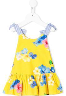 Lapin House Vestido Sem Mangas Com Estampa Floral - Amarelo