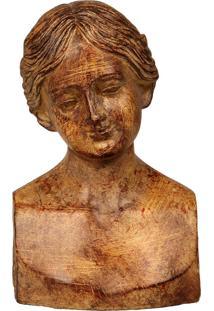 Escultura Decorativa De Resina Busto De Mulher Fabrizzio