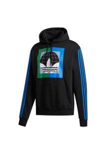 Jaqueta Adidas Blusa Moletom Capuz Globe Preto