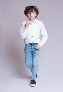 Camisa Tricoline Mrx Jeans Básica Branca