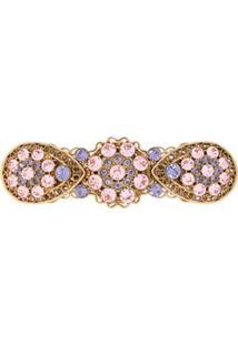 Dolce & Gabbana Presilha De Cabelo Com Aplicação De Strass - Dourado