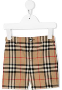 Burberry Kids Vintage Check Tailored Shorts - Neutro