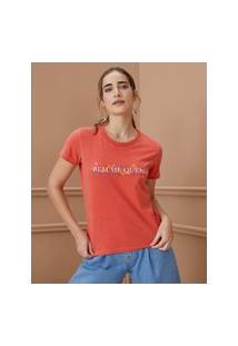 Amaro Feminino T-Shirt Bem Me Quero, Vermelho