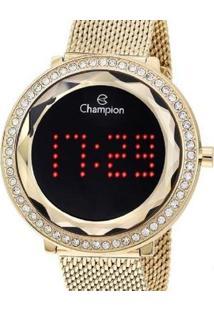 Relógio Champion Digital Ch48000V Feminino - Feminino-Dourado