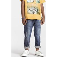 Calça Jeans Infantil Menino Em Tecido De Algodão Puc       9a68c9cd619