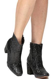 Bota Shoestock Glitter - Feminino