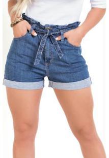 Short Clochard Jeans Sawary Com Amarração