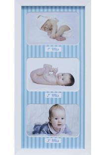 Painel De Fotos Para Parede Baby Love Ii Color 20X42 3 Fotos 10X15 Kapos