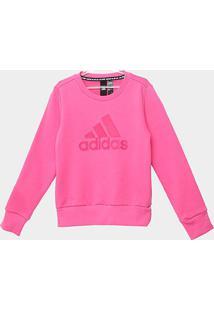 Blusa Infantil Adidas Yg Mh Bos Crew - Feminino