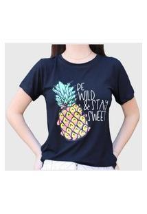 Camiseta Abacaxi Preta D Bell