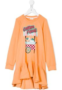Fendi Kids Vestido 'Cotton Candy' - Rosa
