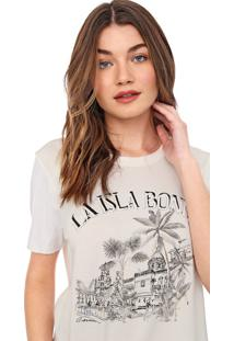 Camiseta Carmim La Isla Off-White