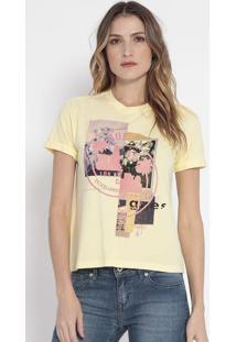 Camiseta Fotografias- Amarela & Rosa- Guessguess