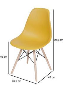 Cadeira Eames Dkr Base Madeira Preta Ordesign
