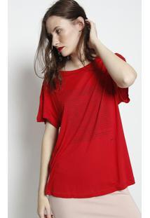 """Camiseta """"Invisible"""" - Vermelha & Preta - Forumforum"""
