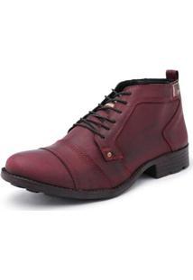 Bota Kilser Shoes Casual Antiderrapante Masculina - Masculino-Vinho