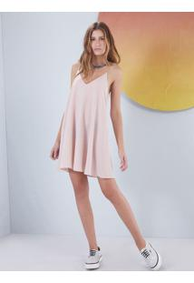 Vestido Slip Dress Liso Rosa