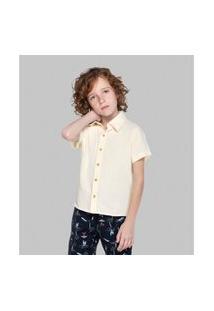 Camisa Infantil Masculina Fresh Trick Nick Bege