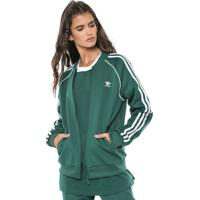 420445e62a Dafiti. Jaqueta Bomber Adidas Originals Sst Tt Verde