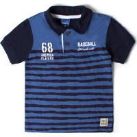 e586696873 Camisa Polo Azul Marinho Verao 2015 infantil