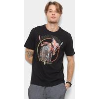 50a0fbcd11 Camiseta Cavalera Estampa Iron Maiden Masculina - Masculino-Preto