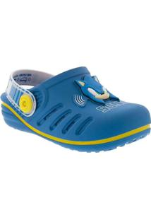 Babuche Infantil Sonic Speed Azul Azul