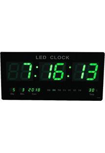 a588d9c3815 Relogio De Parede De Led Verde Digital Alarme Data Temperatura (Rel-59)