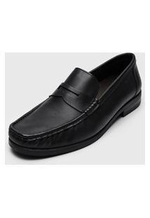 Sapato Social Ferracini Recortes Preto
