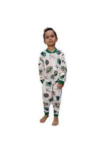 Pijama Infantil Macacáo Hulk Smash Menino 100% Algodáo Branco
