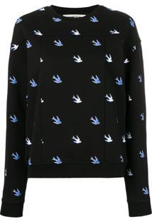 Mcq Alexander Mcqueen Bird Detail Pullover - Preto