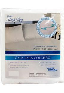Capa Protetora Para Colchão Sleep Dry Branca